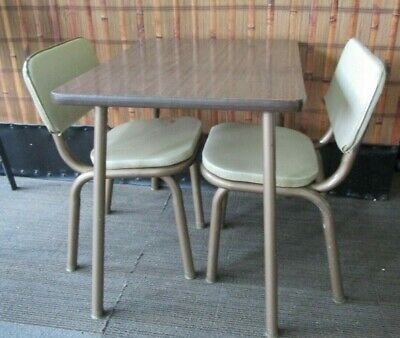 Vintage 1948s on~ Child's Table/Chairs Set  Formica Imperial