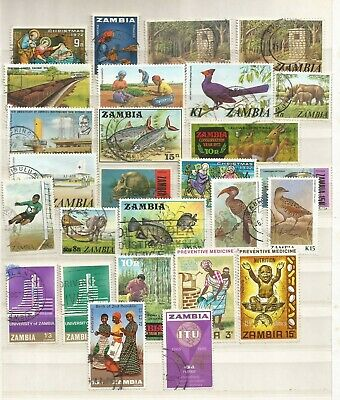 Zambia A Selection of Used Stamps