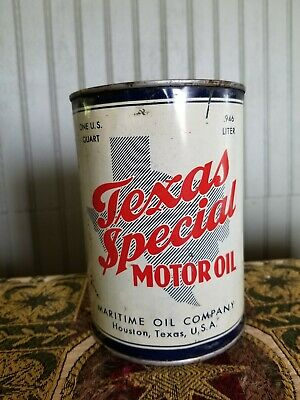 Texas Special Motor Oil Can (full)