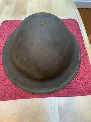 Vintage Original U.S. Military WWI-WWII Doughboy Helmet With Liner & Chin Strap