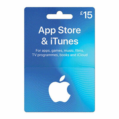 Apple App Store & iTunes £15 UK Only Gift Card Voucher Brand New