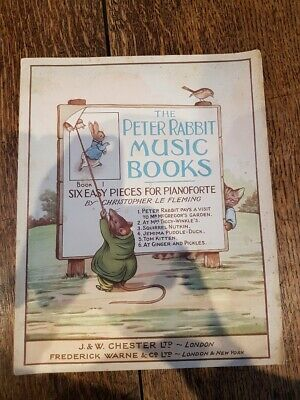 Original 1935 The Peter Rabbit Music Books by Christopher Le Fleming