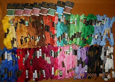 Vintage Lot of 150 Skeins Embroidery Floss Clark's J & P Coat's  Assorted Colors