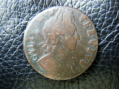 1700 WILLIAM III HALF-PENNY  LOVELY SCARCE rather worn COIN,