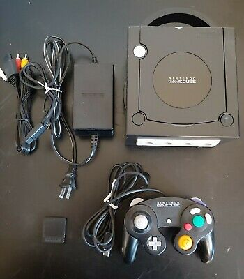Nintendo Gamecube (DOL-001) - Black, with Broadband, Controller and Memory Card