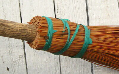 Primitive Antique Folk Art Chimney Broom Made From Tree Branch / Rustic Country