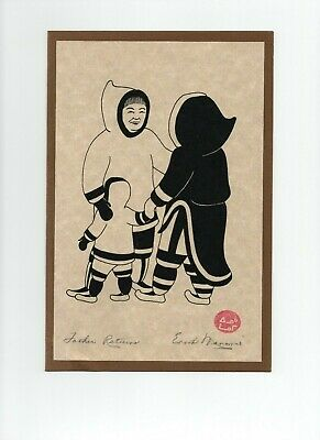 Enook Manomie Father Returns Artisan Prints 1979 First Graphics Eskimo Mark