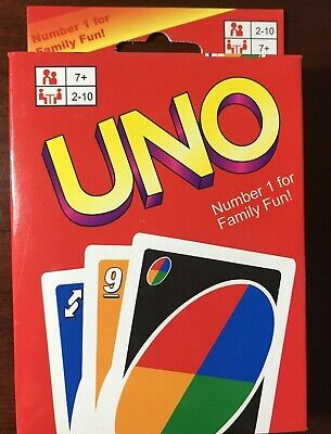 UNO Classic 108 Playing Cards Game 2-10 Players - Free Shipping - New Sealed -