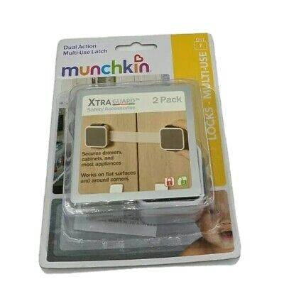 Munchkin Xtraguard Dual Action Multi Use Latch 2 Count Sealed Safety Baby Proof