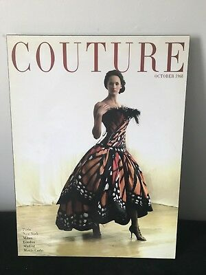 Wall Art Lacquered Print Couture Magazine Cover October 1968