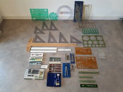 Vintage Retro Technical Engineering Architectural Drawing Drafting Instruments