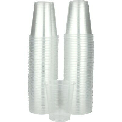 100 Disposable Clear Plastic Soft Drink Cups 200Ml Party Catering Supplies