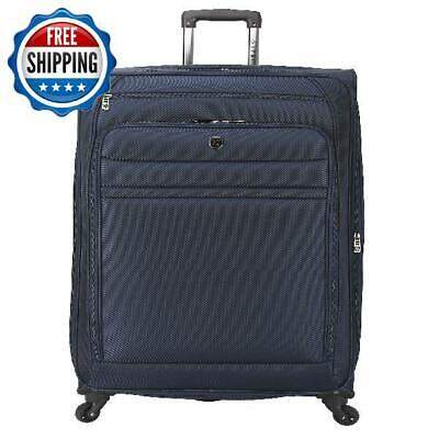 """32"""" Expandable Rolling Spinner Suitcase Luggage Wheel Tote Travel Vacation Navy"""