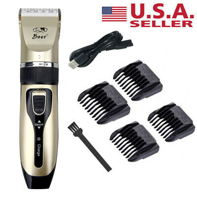 Cordless Electric Pet Dog Cat Hair Trimmer Shaver Razor Grooming Clipper Tool US