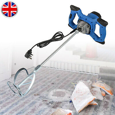 Plaster Mixer 2350W Single Paddle Stirrer For Paint Mortar Cement Electric Tools
