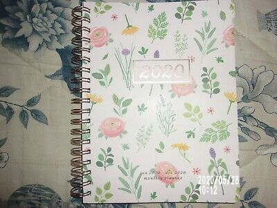 Fringe Floral 2020 monthly and weekly planner