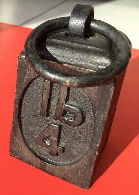 4lb Cast Iron Ring Weight Mint Condition Vintage Retro Retail Trade