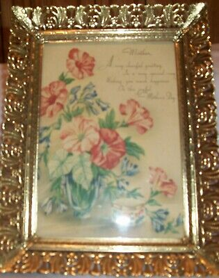 Small Lithograph Donald Art Co. New York Mother's Day