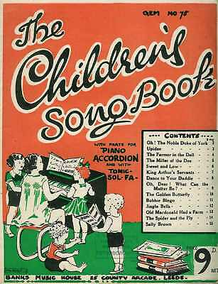 The Children's Songbook (music & words)