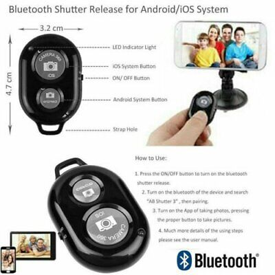 Bluetooth Remote Control Camera Selfie Shutter Stick for iphone Android Phone HU