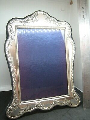 "SOLID SILVER HALLMARKED PHOTO FRAME 10"" x 8"" ART NOUVEAU STYLE"