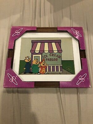 Alvin And The Chipmunks Framed Super Cel Classic  Rare  Limited Edition