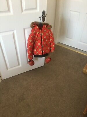 Moschino Baby girls red teddy bear coat age 3 years