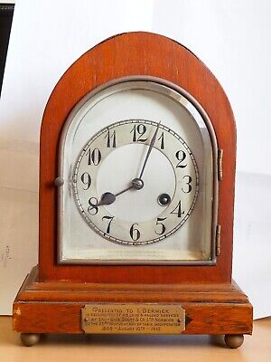 An Imposing Striking Mantel Clock with German movement by Junghans dated 1913