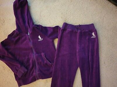 Lovely Juicy Couture purple velour track suit Age 5 in excellent condition