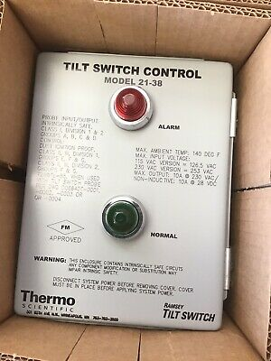 New In Box Thermo Ramsey 2138 Pro-Line Tilt Switch Controller 21-38