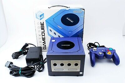 Nintendo GameCube violet Console Set Boxed  [excellent] From JAPAN #513
