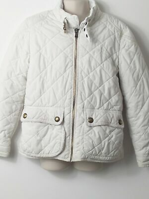Girls Polo Ralph Lauren White Quilted Coat Jacket Kids Age 7 Years