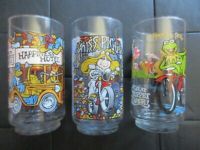 Vintage McDONALD'S THE GREAT MUPPET CAPER COLLECTOR GLASSES - 1981 (4 Total)