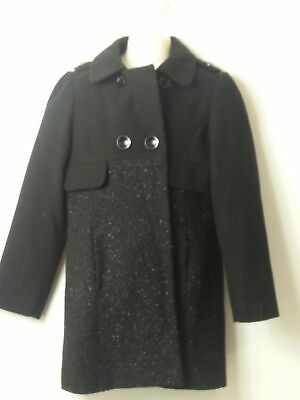 Girls Next Black Sparkle Padded Coat Jacket Kids Age 9-10 Years