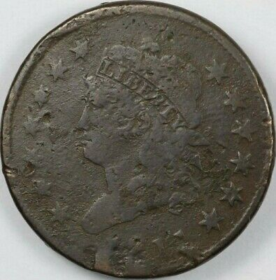 1811 1c Classic Head Large Cent F near VF details key date rare old type coin