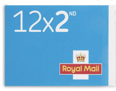 12 Royal Mail 2nd Class Stamps 1 Book