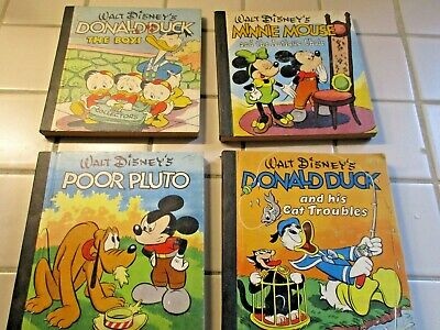 4 Walt Disney's Mickey Mouse Donald Duck Books Whitman  1948