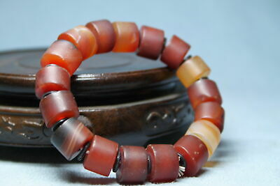 Collectable Handwork Agate Polishing Brown Beads Precious Souvenir Hand Catenary