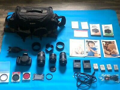 Canon EOS T3i Full kit with 3 lenses.