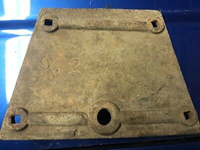 Vintage X2 Cast Iron Wagon Reach Plate Not Seat