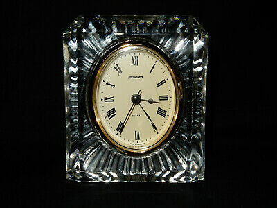 Vintage Staiger Germany With French Crystal Case, Mantle Clock, Quartz Movement