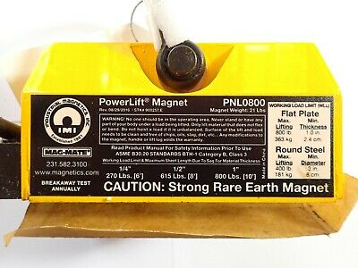 Mag-Mate PowerLift PNL0800 800lbs Capacity Rare Earth Magnet