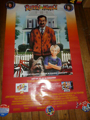 Super Nintendo Dennis The Menace 1994 Video Game Store Poster Promotional Promo