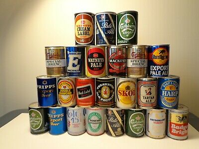 24 (20 Different) 9 2/3 Oz (250 Ml) Foreign Beer Cans