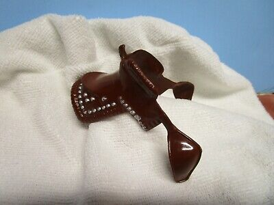 """60s Hartland brown saddle for 7"""" horses NR Free Shipping"""