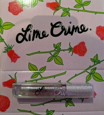 BNIB Lime Crime Diamond Crusher Glitter Lip Topper Unicorn (Lavender/Rainbow)