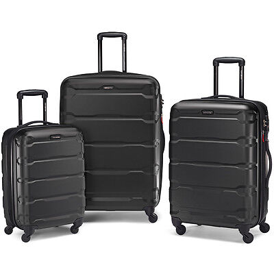 "Samsonite Omni 3 Piece Hardside Luggage Nested Spinner Set (20""/24""/28"") Black -"