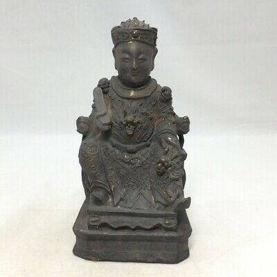 A656 Chinese great man statue of wood carving with wonderful work and expression