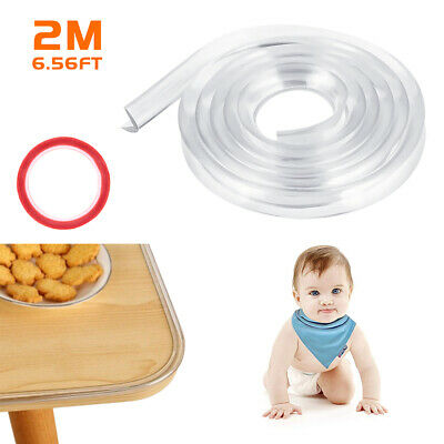 2M Soft Silicone Table Corner Protector Guards Edge Strip Baby Kids Safety Clear