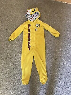 Pudsey Bear Yellow Bodysuit  Age 6-7 Years Worn Once